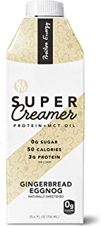 Kitu by SUNNIVA Gingerbread Eggnog Super Creamer with Protein and MCT Oil, Keto Approved, 0g Sugar, 3 g Protein, 50 Calories, 25.4oz (Pack of 2)
