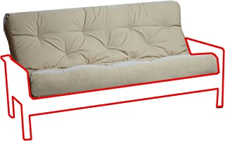 Royal Sleep Products New Replacement Futon Mattress Solid Cover Memory Foam Pocket Coil/Innerspring (Queen, Ivory)
