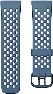 Fitbit フィットビット Versa3 / Sense 専用 純正 交換用 スポーツ リストバンド Sapphire/Fog Grey サファイア/フォググレー Sサイズ [日本正規品]