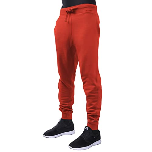 80229ac8ac325b Hat and Beyond Mens Fleece Jogger Pants Elastic Active Basic Urban Harem  Slim Fit