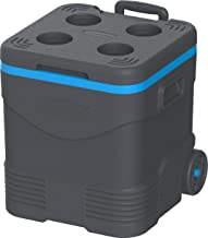 مبرد مياه بلاستيك أسطواني للنزهات بعجلات لحفظ برودة MFIBXX122GY من كوزموبلاست باللون الرمادي، العرض 41.5 × الارتفاع 41.1 ×...