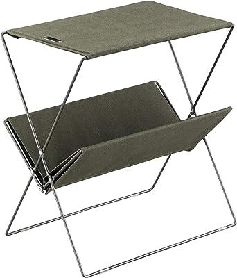 東谷(Azumaya-kk) サイドテーブル グリーン 幅51cm サイドテーブル 折りたたみ式 MIP-91GR