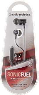 Audio Technica ATH-CLR100ISBK SonicFuel in-Ear Headphones with in-line Microphone & Control Black