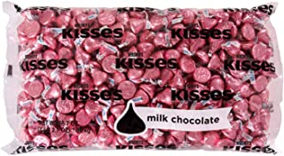 HERSHEY'S KISSES Milk Chocolate Easter Candy, Pink Foils, Perfect for Easter..