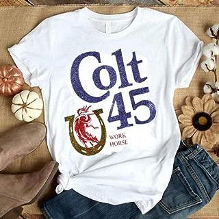 Colt 45 work horse Malt Liquor Beer Mustang Horse Shoe shirt, hoodie, sweater, longsleeve t-shirt