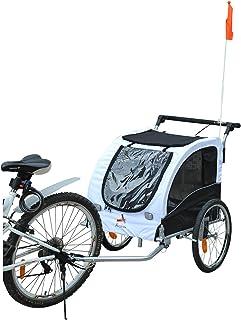 10620b98b90 Aosom Elite II Pet Dog Bike Bicycle Trailer Stroller Jogger w/Suspension