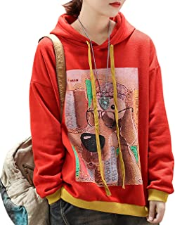 YESNO WN6 Women Casual Loose Sweatshirt Plus Size Pullover Tops Cute Smile Face Printed Crew Neck Long Sleeve