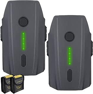 Powerextra Batería Mavic Pro, 2-Pack 11.4V 3830 mAh LiPo Batería de Vuelo Inteligente Reemplazo Li-Po Batería para dji Mavic Pro y Platinum y Drone Blanco Alpino(no Compatible con Mavic Pro 2)