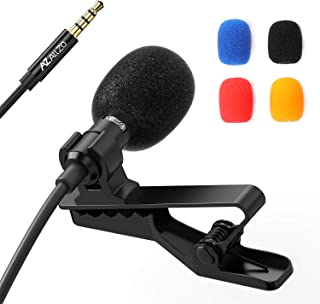 AZ ALLZO Lavalier Recording Microphone for Professional YouTube Podcast, Omnidirectional Condenser Lapel Mic, Easy Clip-On, Superior foriPhone/MacBook/Android/PC/Dlsr, Gaming Mic with Noise Reducing