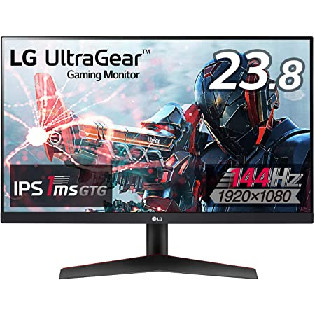 【Amazon.co.jp 限定】LG フレームレス ゲーミングモニター UltraGear 24GN600-B 23.8インチ/フルHD/IPS/144Hz/1ms(GtoG)/FreeSync Premium/HDR/HDMI×2,DP