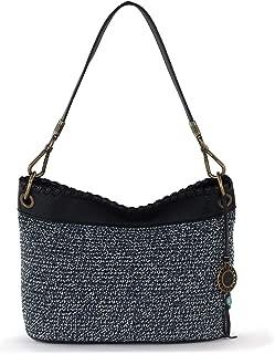Women Fauna Crochet Hobo Bag, Vintage Blue Static