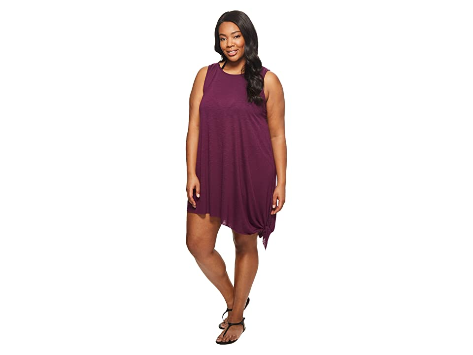 BECCA by Rebecca Virtue Plus Size Breezy Basics Dress Cover-Up (Raisin) Women