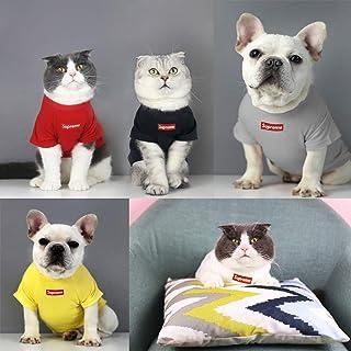 犬 服 犬猫兼用 tシャツ ドッグウェア 春夏 タンクトップ シンプル 無地 ペットグッズ かわいい犬服 ペット用品 カジュアル (M, ブラック)