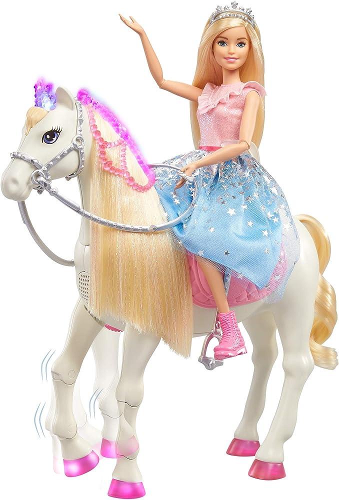 Barbie princess adventure cavallo e bambola barbie principessa GML79