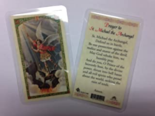 Holy Prayer Cards for The Prayer to Saint Michael The Archangel - Defend Us in Battle Set of 2 in English
