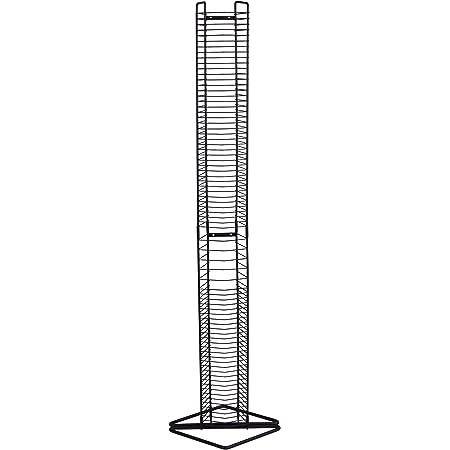 Atlantic Onyx Wire CD Tower - Holds 80 CDs in Matte Black Steel, PN 1248