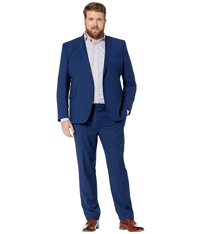 Kenneth Cole Reaction  Big Tall Techni-Cole Open Bottom Suits (Hot Blue Solid) Mens Suits Sets