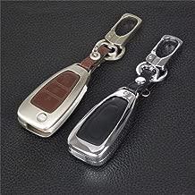 NO BRAND SHZXMOK Remoto 3 Botones Car Key Cover Funda de aleación de Zinc + Cuero para Ford Mondeo Focus 3 MK3 Kuga Fiesta Escape Ecosport Llavero