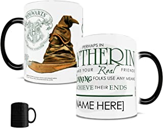 Morphing Mugs Personalized Harry Potter Slytherin Sorting Hat Quote Heat Sensitive Ceramic Coffee Mug - 11 Ounces - ADD YOUR OWN NAME TO YOUR HOGWARTS HOUSE!