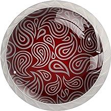 Mooie Oostelijke Paisley 4 stks Glas Lade knop voor Thuis Keuken Kantoor Garderobe Kast Lade