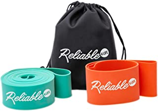 Reliable4Life Stretch Bands for Ballet and Dance with Resistance Band Included, Perfect for Kids and Adults, Improves Splits, Flexibility and Strength Plus Carry Bag and Illustrated eBook, Set of 2