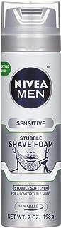 Nivea Men Sensitive Skin & Stubble Shave Foam - Beard Softener For Men - 7 Fl Oz. Can