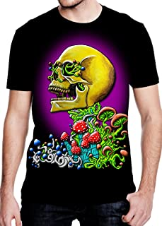 Clear Vision' Men's Rave T Shirt - EDM Clothing - Black Light Reactive Tee