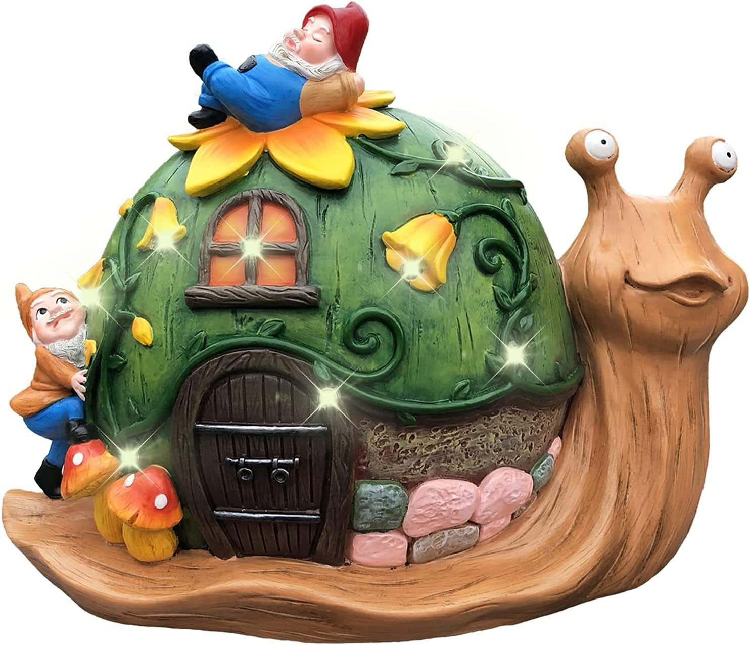YOUIN Solar Snail Garden Statue Anim Year-end gift Choice Decor Outdoor Powered Large