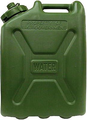 LCI Plastic Water CAN 5 Gallon (Green Can), 7240-01-365-5317