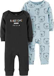 Carters Baby Boys 2-pk. Handsome Fella Jumpsuits 9 Months Black/Blue