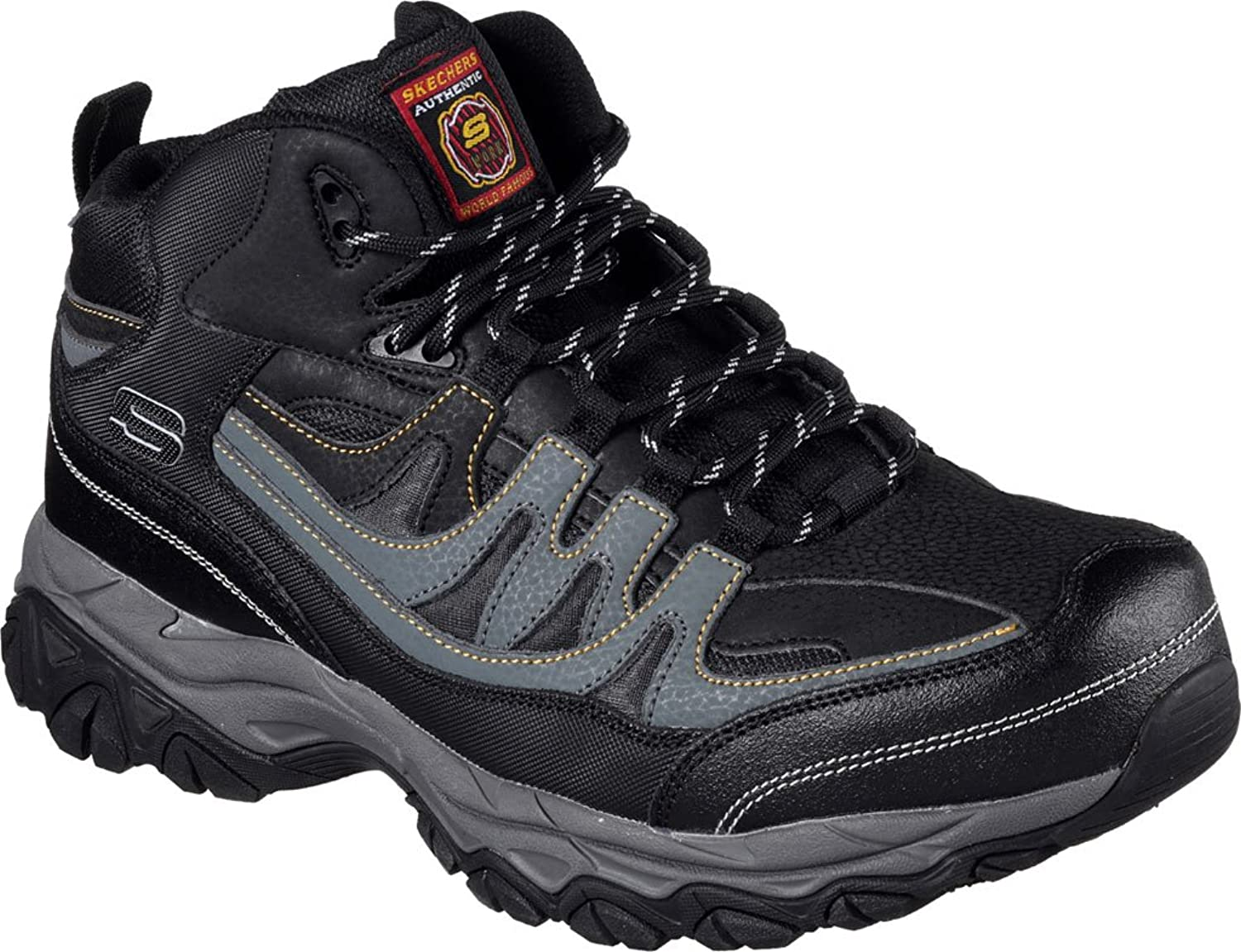 Skechers Work Work Work Relaxed Fit Holdrotge Rebem ST Mens Steel Toe Stiefel schwarz Charcoal 9.5 W e7c