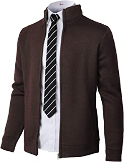 H2H Mens Casual Cardigan Sweaters Premium Shawl Collar Long Sleeve Button Closure Jackets