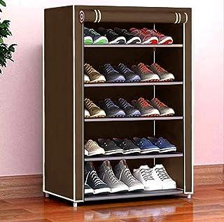 Cmerchants Smart Buy Home Utility Portable Space Saving 5 Layer Shoe Rack Organizer Stand (Brown)