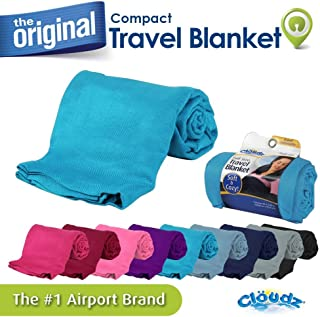 Cloudz Compact Travel Blanket - Sky Blue