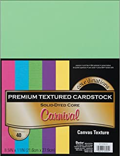 "Darice Core'dinations Value Pack Cardstock 8.5""X11"" 40/Pkg-Carnival - Textured"