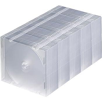 サンワサプライ 1枚収納×50枚セット スリムBD/DVD/CDケース クリア FCD-PU50C