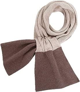 Winter Women Woolen Scarf Warm Color Matching Knitted Neck Scarf Muffler