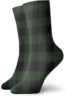 Osmykqe, Calcetines atléticos de compresión a media pierna de búfalo verde sin costuras niño niña