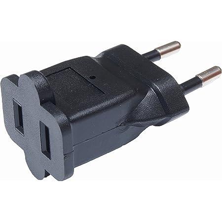 2x Adapter Stecker CE Reise universal schwarz China US auf EU DE aus Deutschland