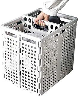 Przenośny zmywalny koszyk prania, składany plastikowy kosz do bielizny, duży podwójny przedziałowy koszyk do prania, siatk...