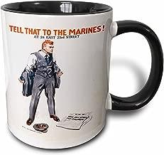 3dRose 149368_4 Vintage Tell That to The Marines Poster Mug, 11 oz, Black