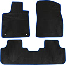 HD-Mart Car Floor Mats Compatible with Lexus RX 200T 350 350H 5 Seats 2015 2016 2017 2018 2019 Custom Fit for Black Rubber Car Floor Liners Set All Weather Black JD-19-1-BLU-WB