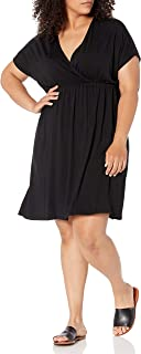 Women's Plus Size Surplice Dress