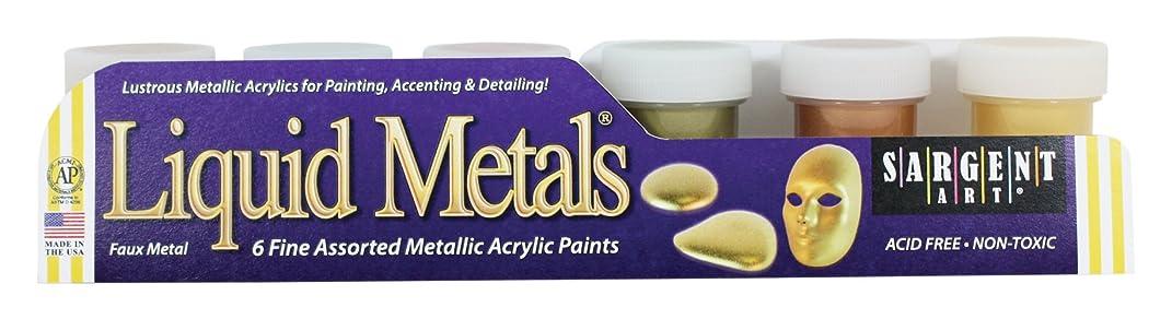 Sargent Art 66-5423 6-Jar Metallic Acrylic Set
