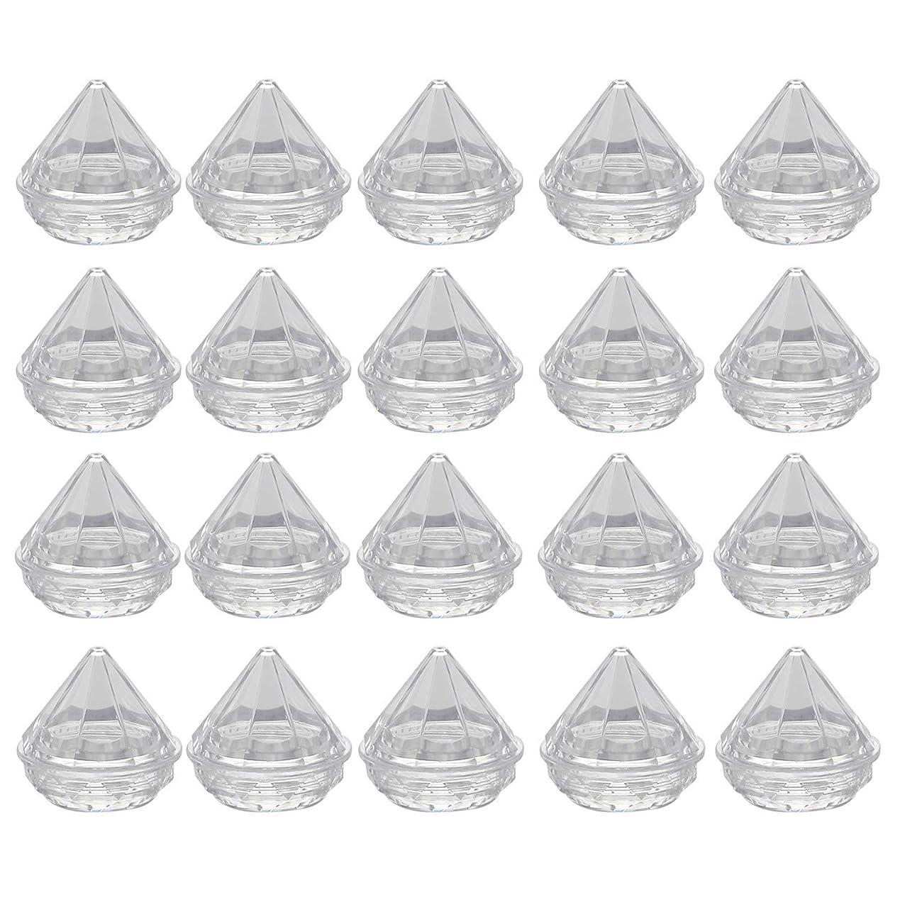 コジオスコウォルターカニンガムブルーベルMigavann 20ピース5グラムクリームジャー クリームボトル 化粧品容器瓶 ダイヤモンド形クリア詰め替え空の化粧品メイクアップクリームローション容器ジャーボトルボックス