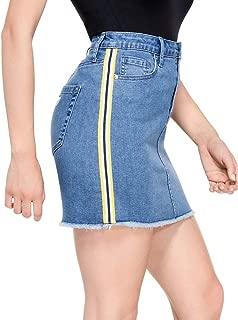GUESS Factory Women's Demmie Striped Denim Skirt