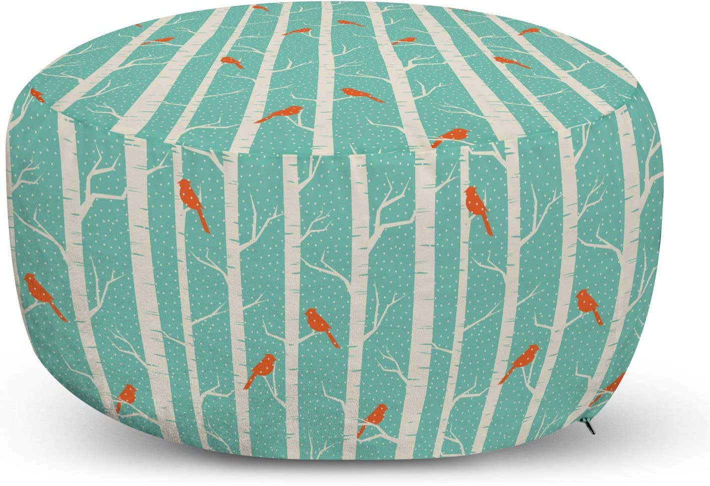 Ambesonne Nature Pouf Cover with Abstract Backgro Dotted Under blast sales Zipper Max 43% OFF