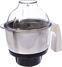 Preethi MGA-504 Stainless Steel Genie Jar for Eco Twin, Plus/Chef Pro and Blue Leaf, 0.5-Liter, Silver