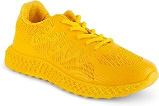 Wanted Shoes Women's Michaela 3D Sole Lace-Up Knit Fashion Sneaker