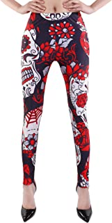 Women's High Waist Leggings Halloween Pants Stretchy Tights for Party Costume or Yoga Running